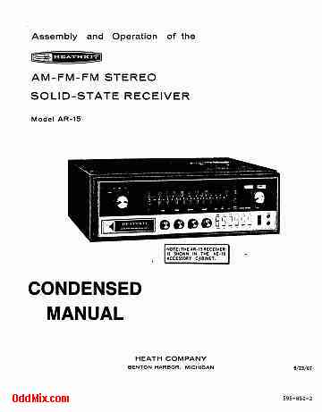 Heathkit AR-15 AM-FM Stereo Solid State Receiver Operations Manual on cz schematic, cetme schematic, revolver schematic, remington 870 schematic, ar trigger schematic, akm schematic, ar parts schematic, m4 schematic, sa80 schematic, mauser schematic, marlin model 60 schematic, dyson schematic, pistol schematic, m1 garand schematic, enfield schematic, glock schematic, gun schematic, m16 schematic, winchester schematic, ak-47 schematic,