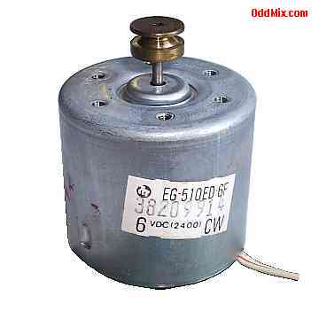 Electric motor dc mabuchi eg 510ed 6f 6vdc 2400 cw pm for Small electric motor pulleys