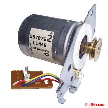 Electric motor dc sankyo 5578762 lln4b assembly pulley for Tachometer for electric motor