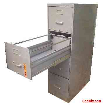 Steel File Cabinets Four Drawer Standard Size Ball Bearings Heavy ...